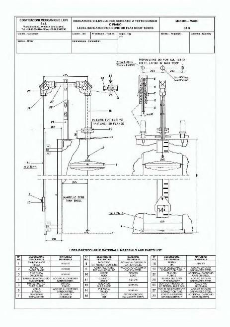 Menu Indicatore di Livello - Costruzioni Meccaniche Lupi S r l